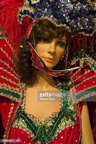 mannequin in mardi gras costume - gras bildbanksfoton och bilder