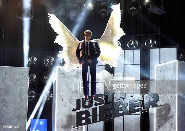 Mannequin of honoree Justin Bieber appears at The Comedy Central Roast of Justin Bieber at Sony Pictures Studios on March 14, 2015 in Los Angeles,...