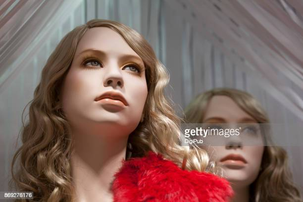 mannequin sisters looking into the distance - マネキン人形 ストックフォトと画像