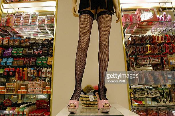 A mannequin stands on display at the Penthouse Boutique August 10 2003 in Milford Connecticut The Penthouse Boutique which is not owned by the...