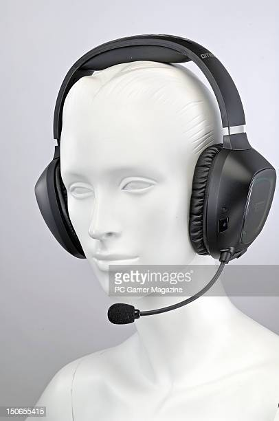 A mannequin wearing a Creative Tactic 3D Omega PC gaming headset During a studio shoot for PC Gamer Magazine August 22 2011