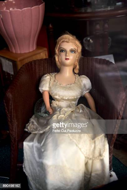 Mannequin with white dress at Butte, Montana, USA