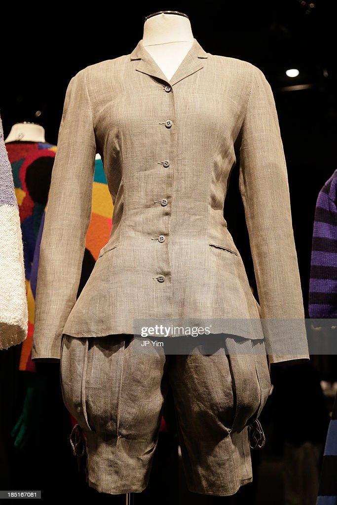 Mannequins display Perry Ellis designs during the 'Perry Ellis: An American Original' By Jeffrey Banks book launch hosted by the CFDA, Perry Ellis and Parsons the New School for Design on October 17, 2013 in New York City.
