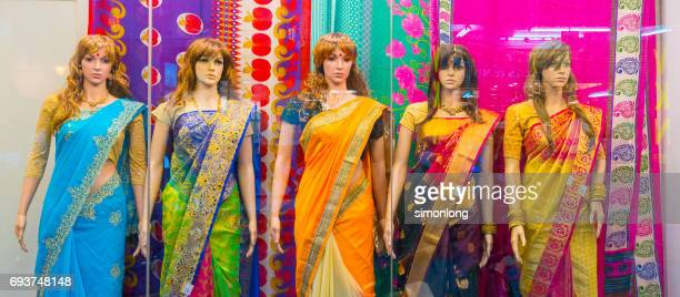 Mannequins dressed in Indian fashion