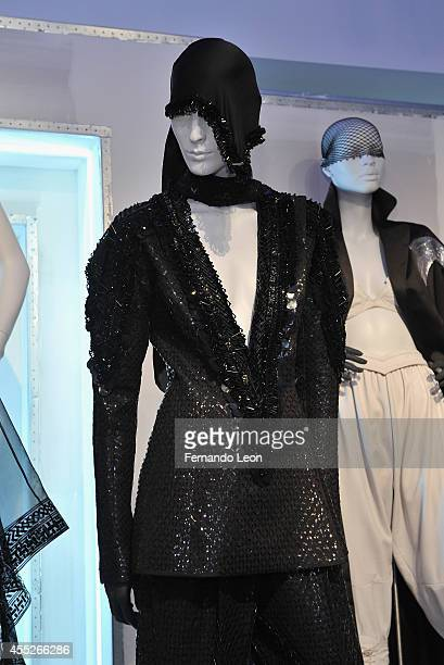 Mannequins featuring clothes from the Zaldy collection photographed during the Zaldy presentation at Zaldy Studio on September 11 2014 in New York...