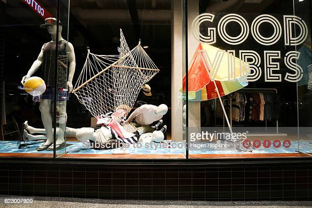 Mannequins in Cotton On clothing store lie on the ground after an earthquake on November 14 2016 in Wellington New Zealand The 75 magnitude...