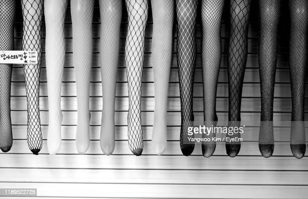 mannequins wearing stockings for sale in store - パンティストッキング ストックフォトと画像