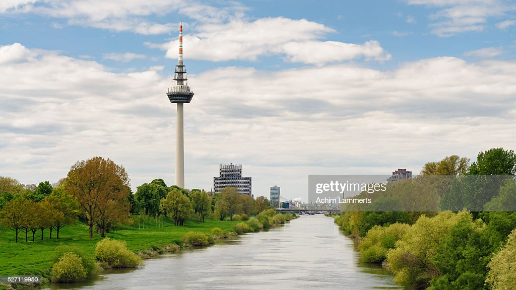 Mannheim - Skyline : Stock-Foto