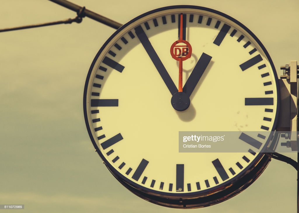 Mannheim train station clock