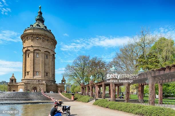 mannheimer, water tower und water wastage - mannheim stock-fotos und bilder