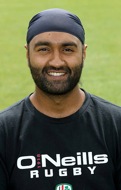 Manni Bhangra academy physio of London Irish poses for a portrait at the photocall held on August 5 2014 in Sunbury England