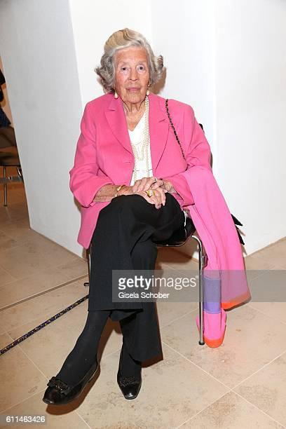 Manni Marianne Fuerstin zu SaynWittgensteinSayn during the 'Bergonzoli in Bavaria' exhibition opening at Bayerisches Nationalmuseum on September 29...