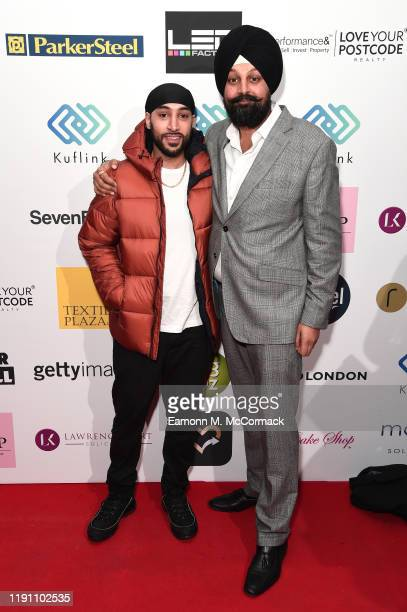 Manni Sandhu and Tony Shergill attend the Brit Asia TV Music Awards 2019 at SSE Arena Wembley on November 30 2019 in London England