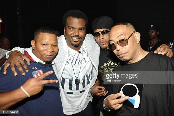 Mannie Fresh Craig Robinson Nelly and Fresh Kid Ice attend the 2010 Vh1 Hip Hop Honors at Hammerstein Ballroom on June 3 2010 in New York City
