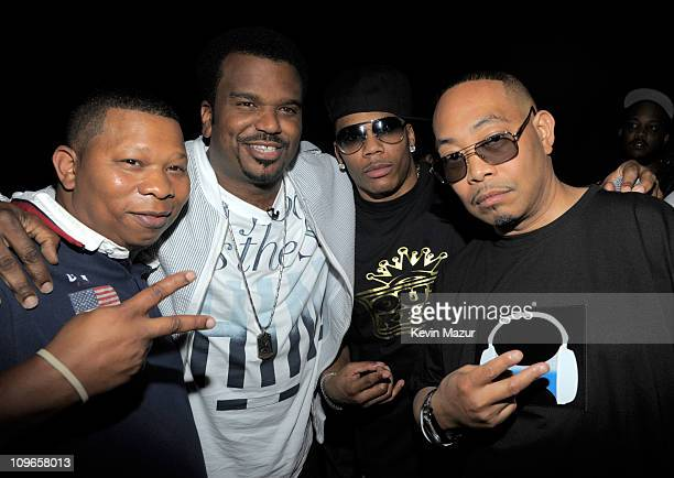 Mannie Fresh, Craig Robinson, Nelly and Fresh Kid Ice of 2 Live Crew attends the 2010 Vh1 Hip Hop Honors at Hammerstein Ballroom on June 3, 2010 in...