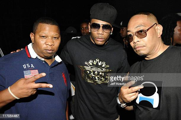 Mannie Fresh Nelly and Fresh Kid Ice attend the 2010 Vh1 Hip Hop Honors at Hammerstein Ballroom on June 3 2010 in New York City