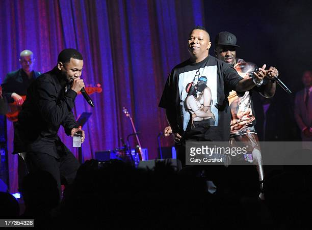 Mannie Fresh Turk and Juvenile attend the 2013 BMI RB/HipHop Award at Hammerstein Ballroom on August 22 2013 in New York City