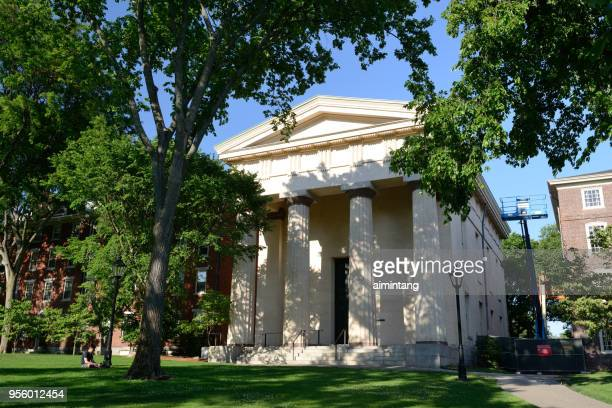 manning hall in the campus of brown university - brown university stock pictures, royalty-free photos & images