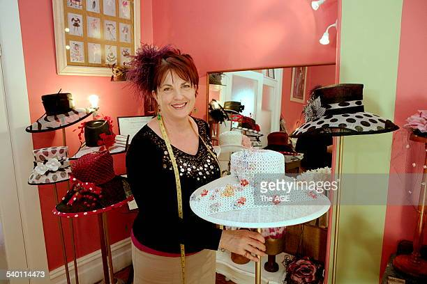 JD Mannington Milliner shows off some of her creations on 15th September 2006 THE AGE MY CAREER Picture by EDDIE JIM