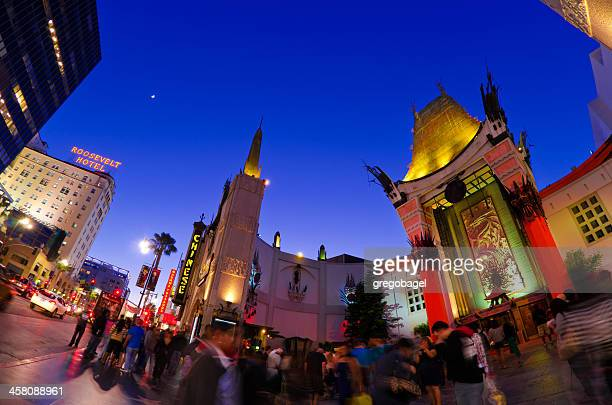 mann's chinese theatre at hollywood boulevard in los angeles, ca - hollywood boulevard stock pictures, royalty-free photos & images