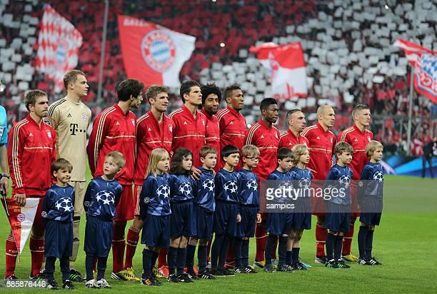Mannschaft des FC Bayern München Fussball Championsleague Halbfinale FC Bayern München FC Barcelona 4:0 Semifinale
