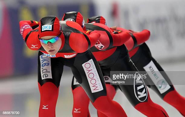 Mannschaft Deutschland Frauen gewinnen Bronze in der Besetzung Isabell Ost Stephanie Beckert und Claudia Pechstein Team Verfolgung...