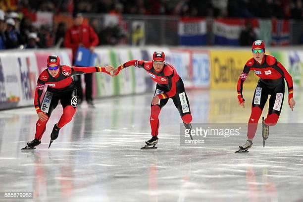 Mannschaft Deutschland Frauen gewinnen Bronze in der Besetzung Isabell Ost Claudia Pechstein Stephanie Beckert Team Verfolgung Mannschaftsverfolgung...