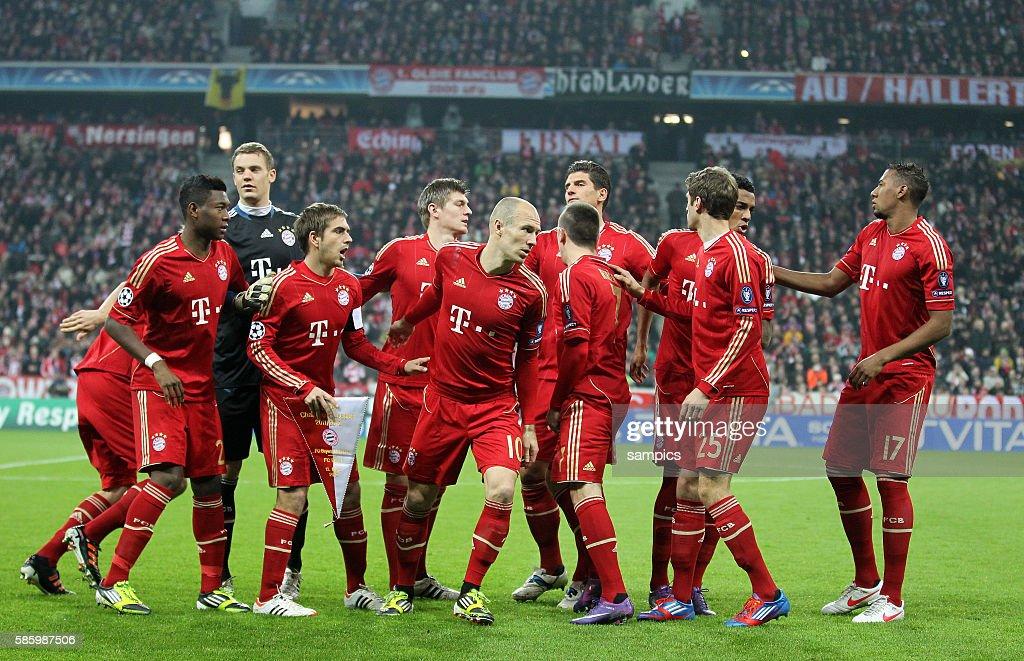 Mannschaftsfoto Des Fc Bayern Munchen Fussball