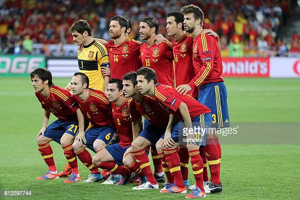 Mannschaftsfoto Finale Finale Spanien Italien Spain Italy 40 Fussball EM UEFA Euro Europameisterschaft 2012 Polen Ukraine Italy Croatia soccer...