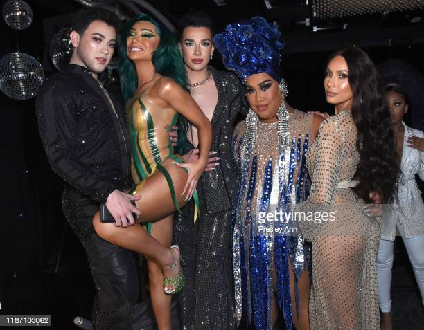 Manny Gutierrez Nikita Dragun James Charles Patrick Starrr and Desi Perkins attend Patrick Starrr birthday party on November 11 2019 in Los Angeles...