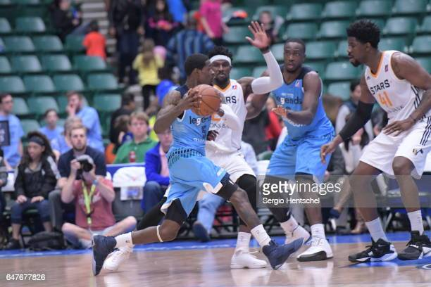 Manny Harris of the Texas Legends in action during game against the Salt Lake City Stars at The Dr Pepper Arena on March 3 2017 in Frisco Texas NOTE...