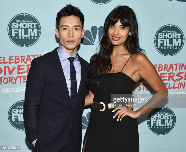 Manny Jacinto and Jameela Jamil attend the 12th Annual NBCUniversal Short Film Festival Finale Screening at Directors Guild Of America on October 18...