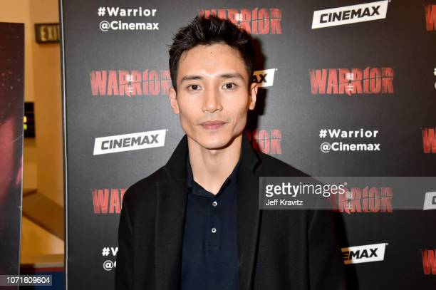 Manny Jacinto at the Cinemax Sneak Peek of Warrior With Justin Lin Shannon Lee and Jonathan Tropper at Arclight Hollywood on December 10 2018 in...