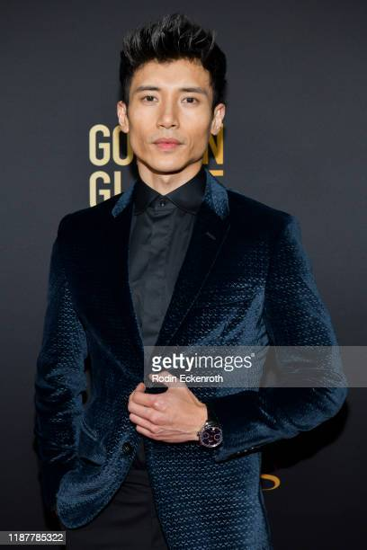 Manny Jacinto attends the HFPA and THR Golden Globe Ambassador Party at Catch LA on November 14 2019 in West Hollywood California