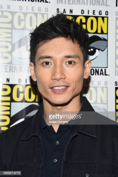 Manny Jacinto attends the 'The Good Place' Press Line during ComicCon International 2018 at Hilton Bayfront on July 21 2018 in San Diego California