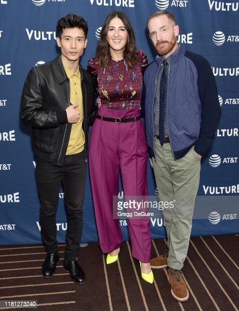 Manny Jacinto D'Arcy Carden and Marc Evan Jackson arrive at the Vulture Festival Los Angeles 2019 Day 1 at Hollywood Roosevelt Hotel on November 9...