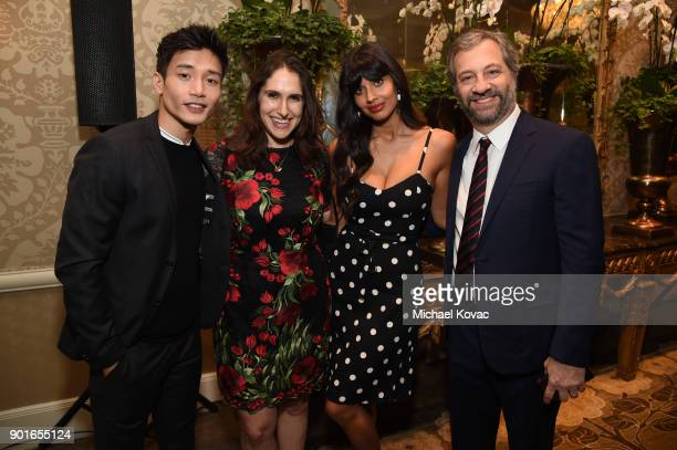 Manny Jacinto Megan Amram Jameela Jamil and Judd Apatow attend the 18th Annual AFI Awards at Four Seasons Hotel Los Angeles at Beverly Hills on...