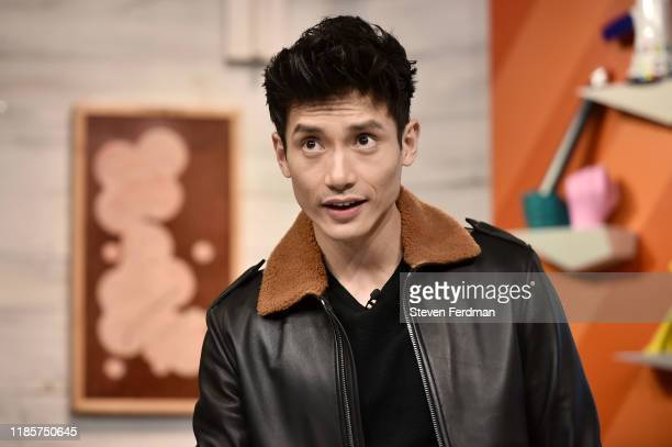 Manny Jacinto visits BuzzFeed's AM To DM at Buzzfeed Studios on November 05 2019 in New York City