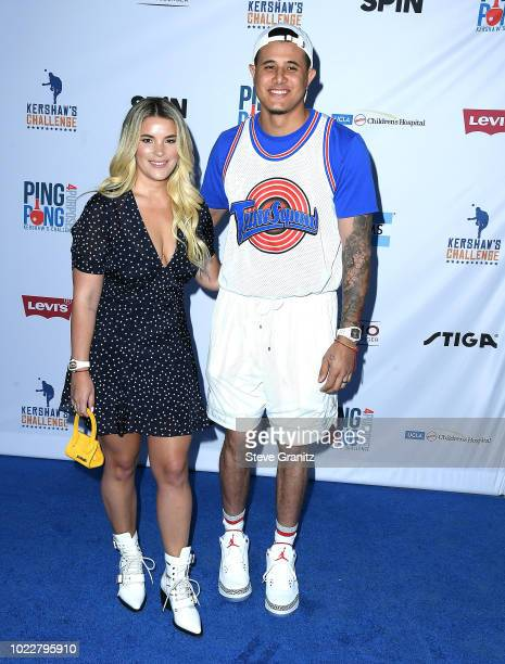 Manny Machado arrives at the 6th Annual PingPong4Purpose at Dodger Stadium on August 23 2018 in Los Angeles California