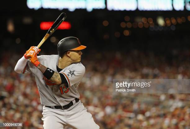 Manny Machado of the Baltimore Orioles and the American League bats in the fourth inning against the National League during the 89th MLB AllStar Game...