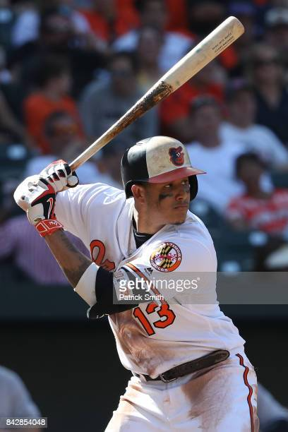 Manny Machado of the Baltimore Orioles bats against the New York Yankees at Oriole Park at Camden Yards on September 4 2017 in Baltimore Maryland