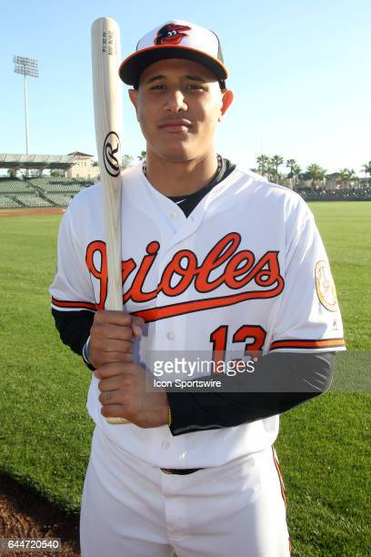 Manny Machado of the Orioles poses during the Baltmore Orioles Photo Day on February 20 2017 at Ed Smith Stadium in Sarasota Florida
