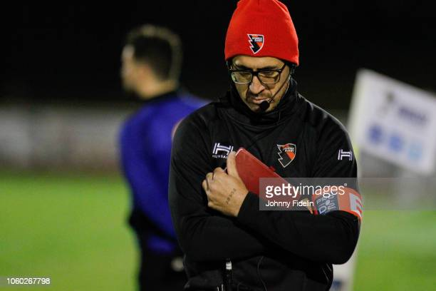 Manny Manuels Edmonds assistant coach of Oyonnax during the Pro D2 match between Massy and Oyonnax on November 9 2018 in Massy France