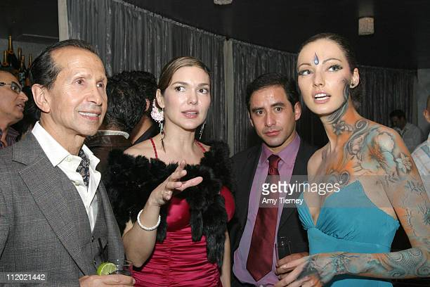 Manny Mashouf chairman/founder of Bebe Laura Harring Miguel Martinez and Juliette Marquis