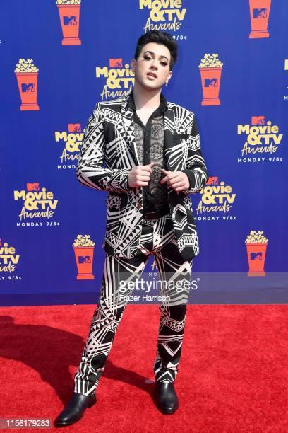 Manny Mua attends the 2019 MTV Movie and TV Awards at Barker Hangar on June 15 2019 in Santa Monica California