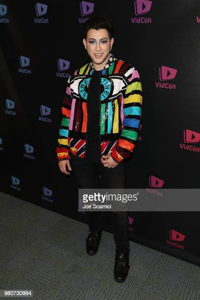 Manny MUA attends the 9th Annual VidCon at Anaheim Convention Center on June 20 2018 in Anaheim California