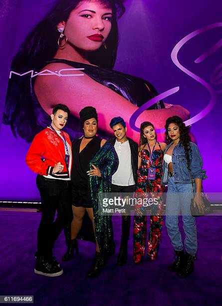 Manny Mua Patrick Starrr Gabriel Zamora Rose Ciard and Raye Boyce at the MAC Selena World Premiere on September 30 2016 in Corpus Christi Texas