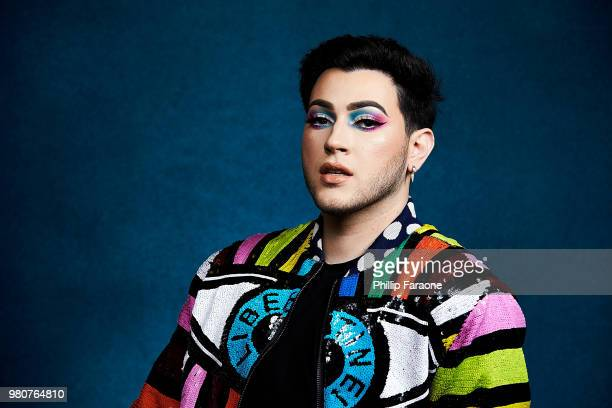 Manny MUA poses for a portrait at the Getty Images Portrait Studio at the 9th Annual VidCon US at Anaheim Convention Center on June 21 2018 in...