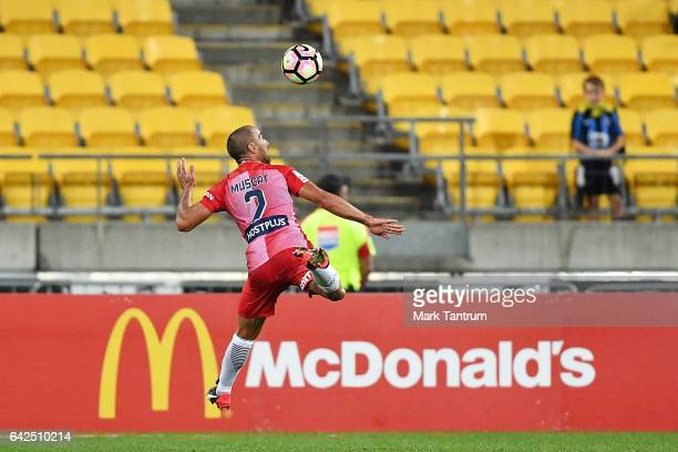 Manny Muscat of Melbourne City during the round 20 ALeague match between the Wellington and Melbourne City at Westpac Stadium on February 18 2017 in...