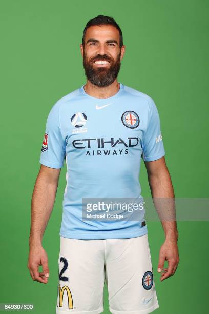 Manny Muscat poses during the Melbourne City 2017/18 ALeague season headshots session Fox Footy Studios on September 19 2017 in Melbourne Australia